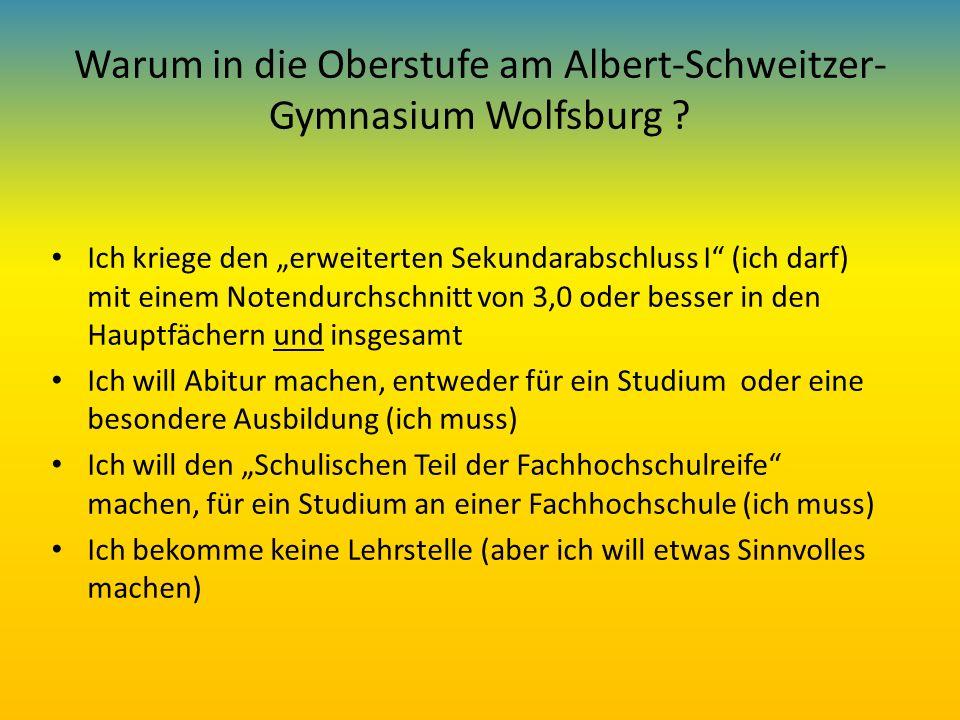 Warum in die Oberstufe am Albert-Schweitzer-Gymnasium Wolfsburg