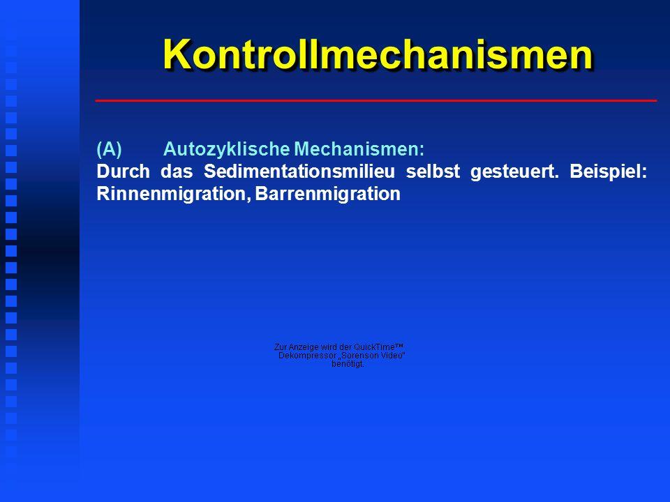 Kontrollmechanismen (A) Autozyklische Mechanismen: