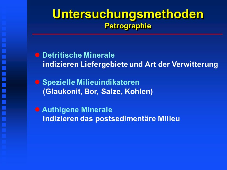 Untersuchungsmethoden Petrographie