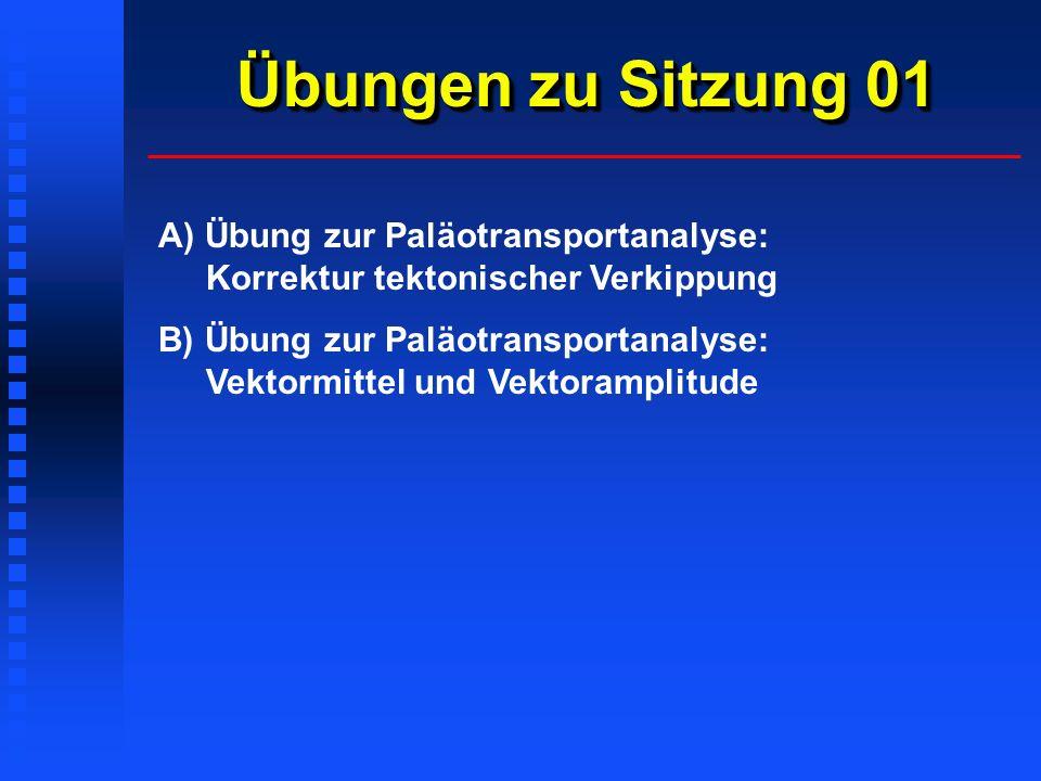 Übungen zu Sitzung 01 A) Übung zur Paläotransportanalyse: Korrektur tektonischer Verkippung.
