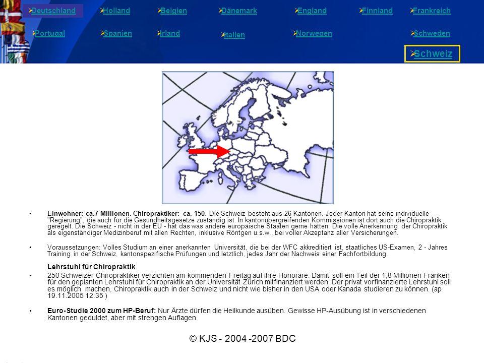 Schweiz © KJS - 2004 -2007 BDC Deutschland Holland Belgien Dänemark
