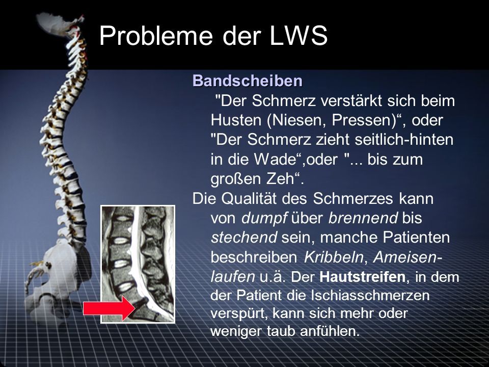 Probleme der LWS