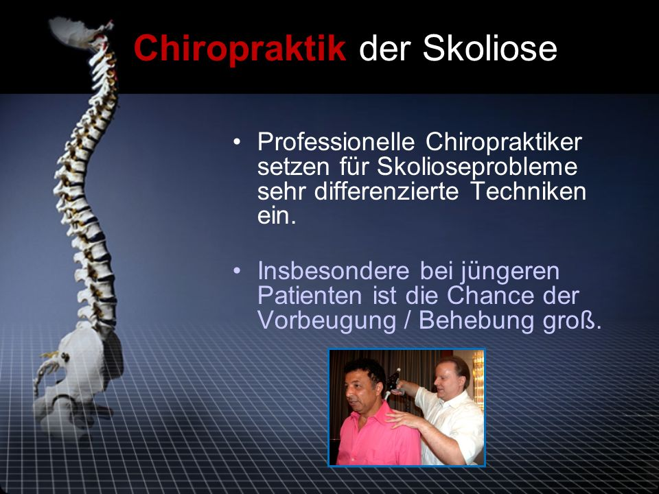 Chiropraktik der Skoliose