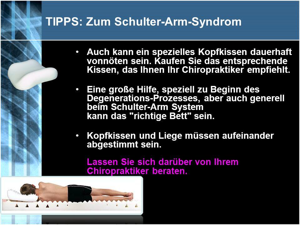 TIPPS: Zum Schulter-Arm-Syndrom