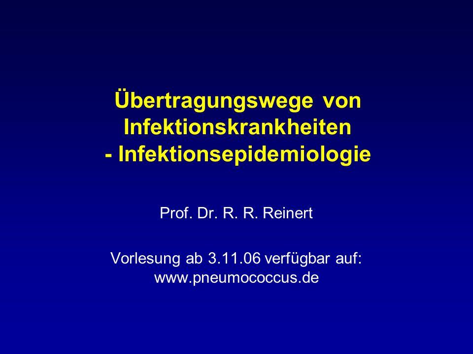 Übertragungswege von Infektionskrankheiten - Infektionsepidemiologie