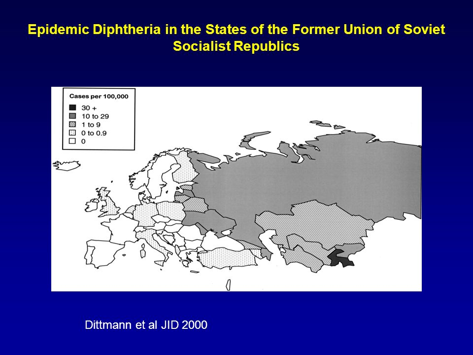 Epidemic Diphtheria in the States of the Former Union of Soviet Socialist Republics