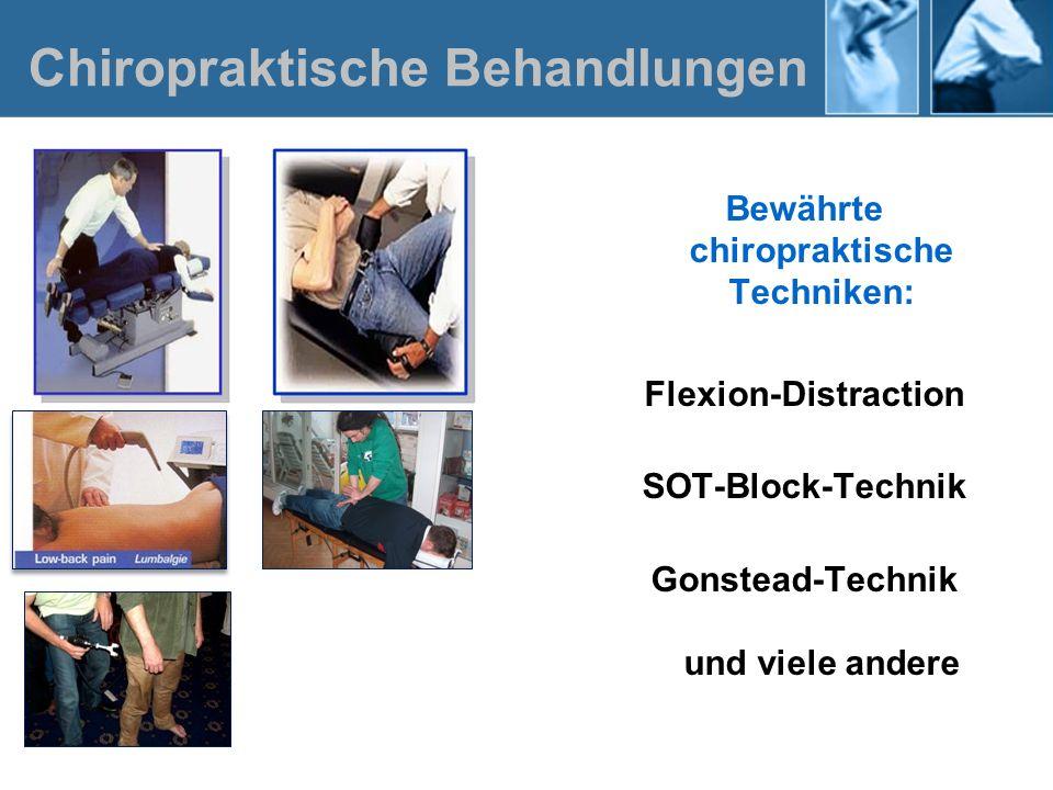 Chiropraktische Behandlungen