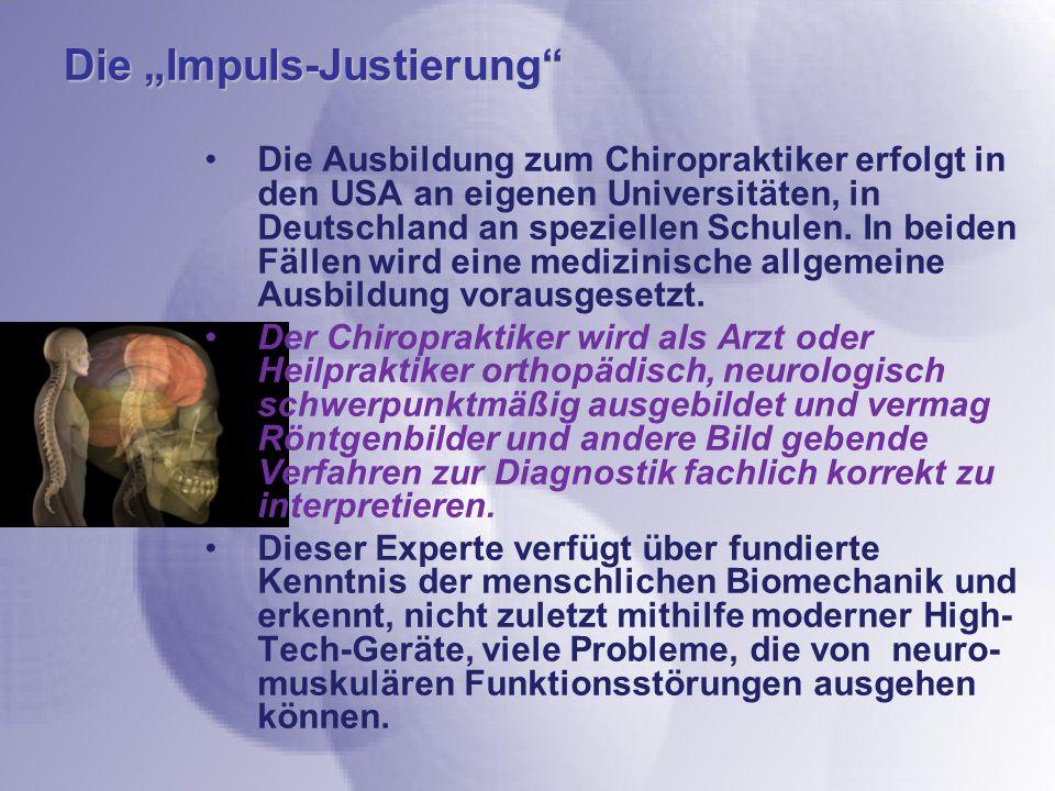 """Die """"Impuls-Justierung"""