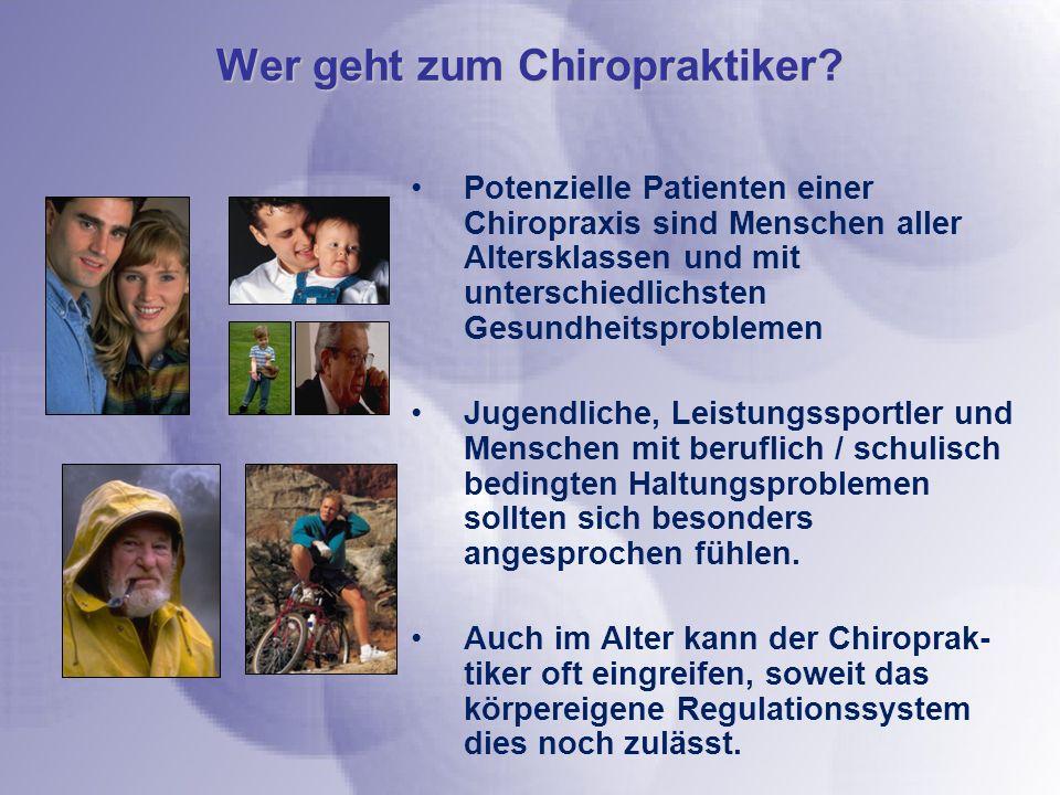 Wer geht zum Chiropraktiker