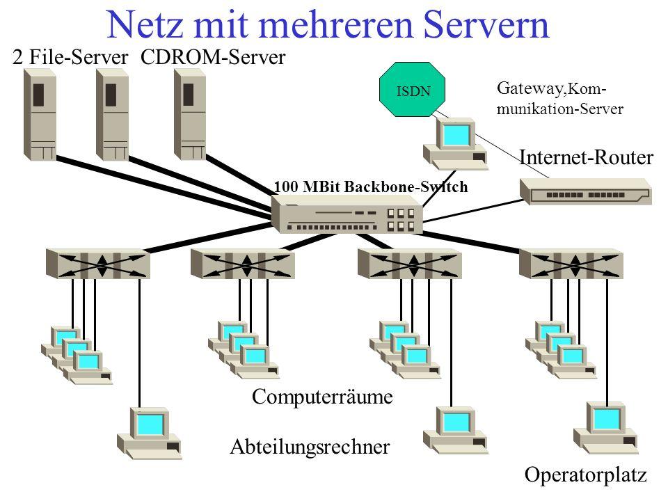Netz mit mehreren Servern