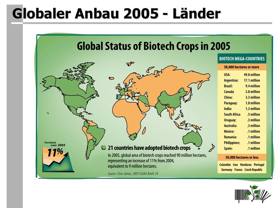 Globaler Anbau 2005 - Länder