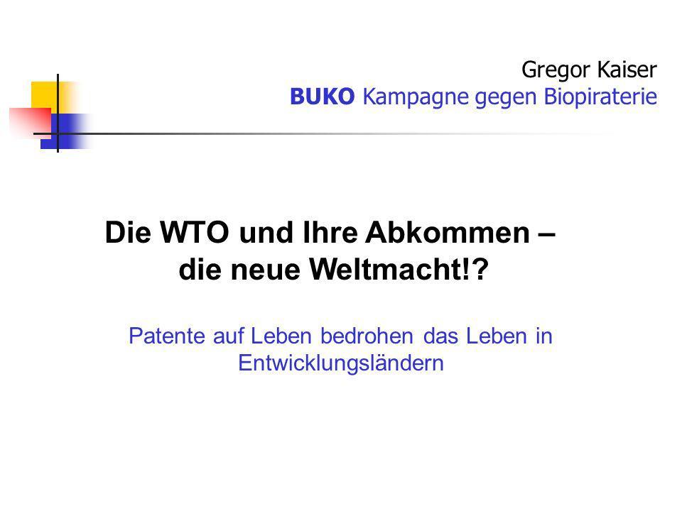 Die WTO und Ihre Abkommen –