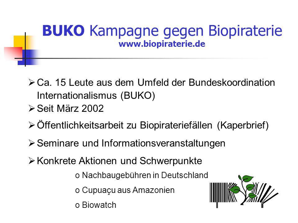 BUKO Kampagne gegen Biopiraterie