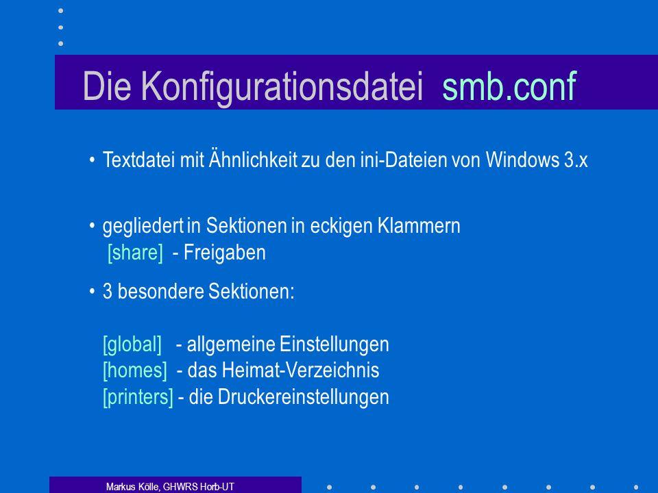 Die Konfigurationsdatei smb.conf
