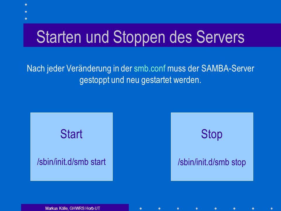 Starten und Stoppen des Servers