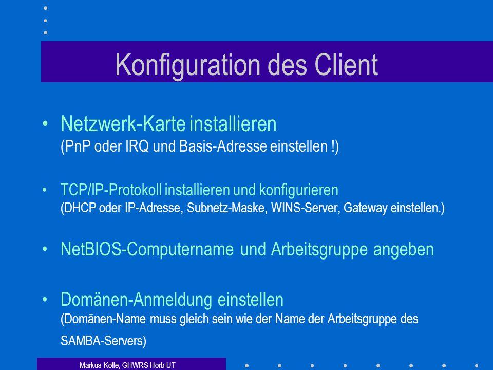 Konfiguration des Client