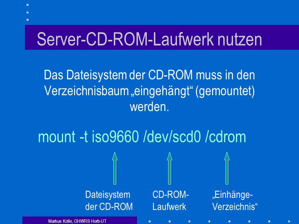 Server-CD-ROM-Laufwerk nutzen