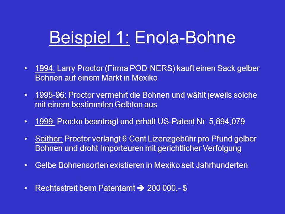 Beispiel 1: Enola-Bohne