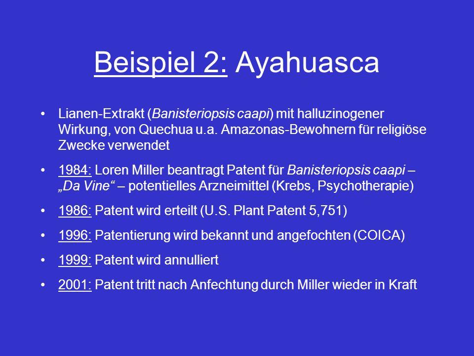 Beispiel 2: Ayahuasca