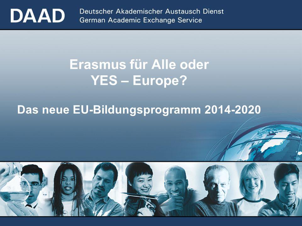 Erasmus für Alle oder YES – Europe