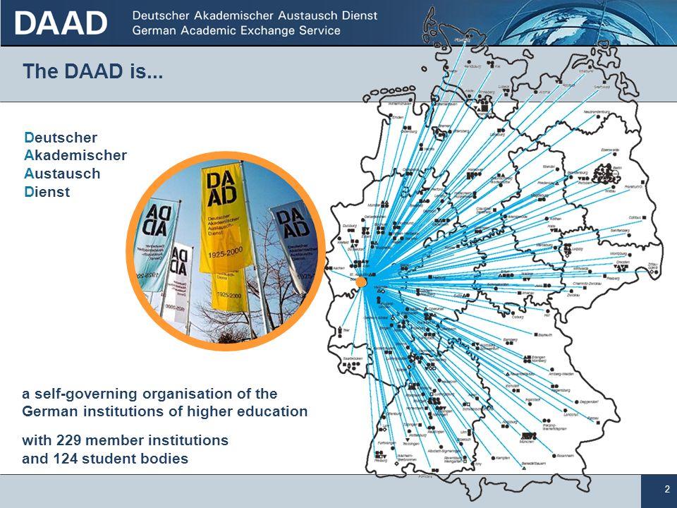 The DAAD is... Deutscher Akademischer Austausch Dienst