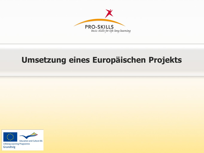 Umsetzung eines Europäischen Projekts
