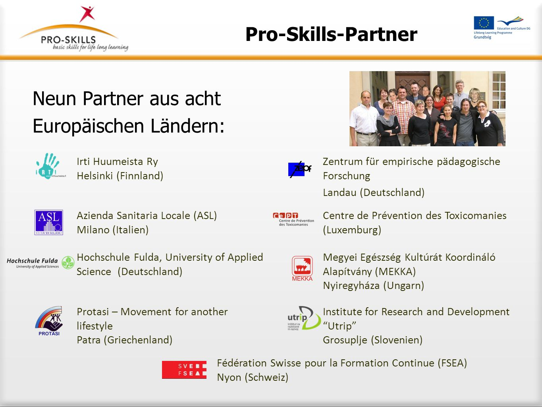 Neun Partner aus acht Europäischen Ländern: