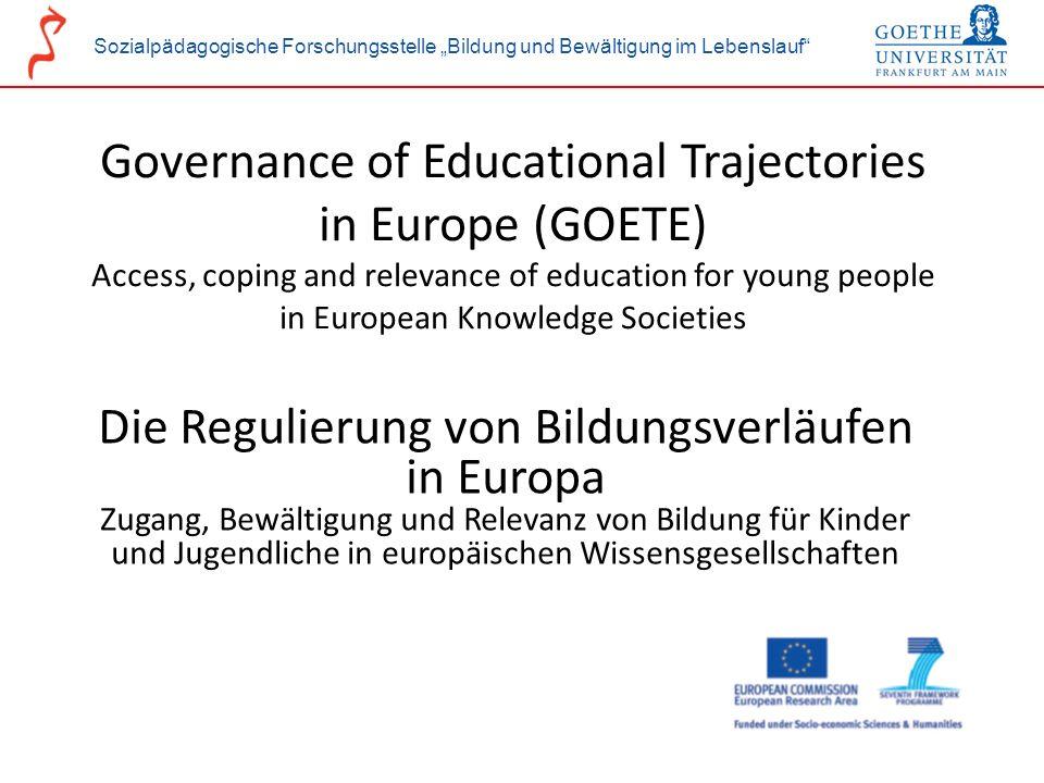 Die Regulierung von Bildungsverläufen in Europa