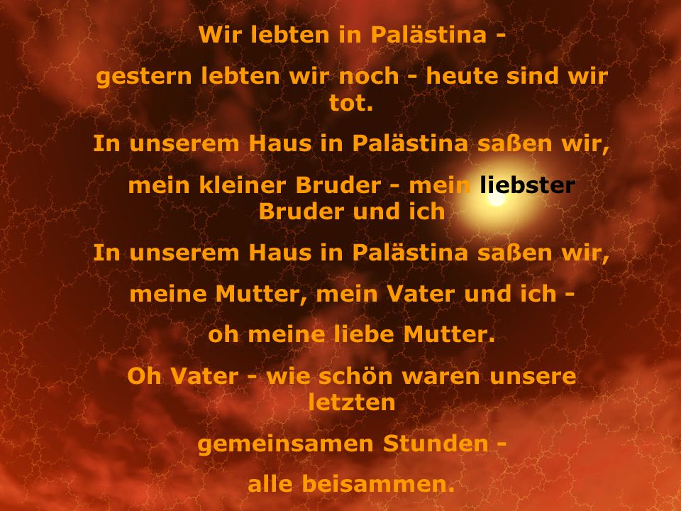Wir lebten in Palästina -