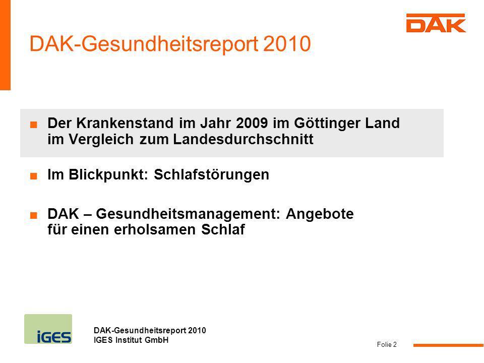 DAK-Gesundheitsreport 2010