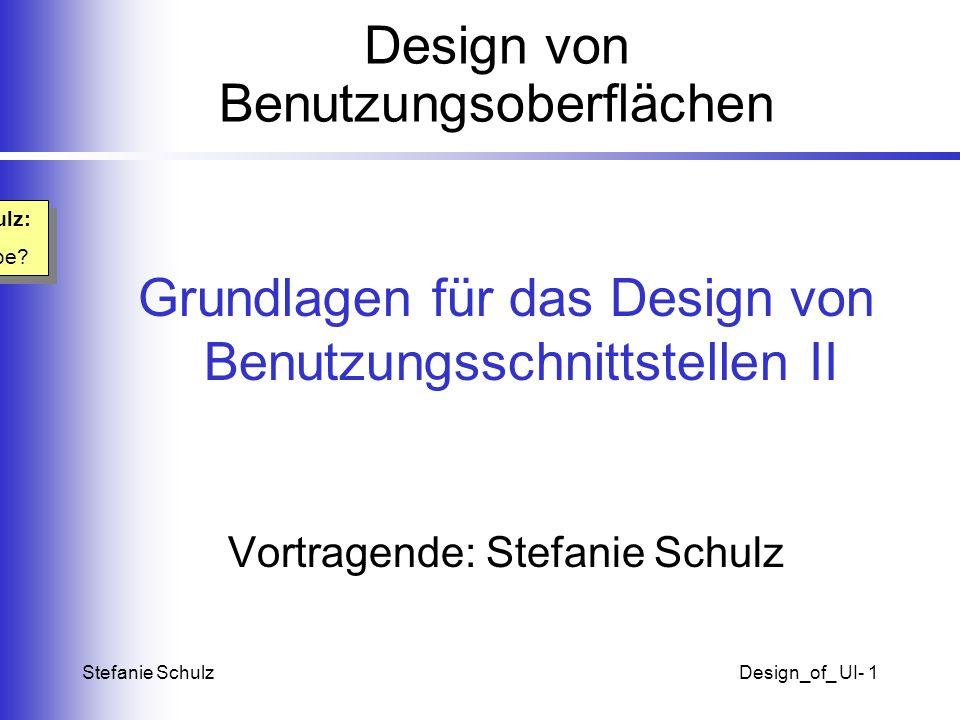 Design von Benutzungsoberflächen