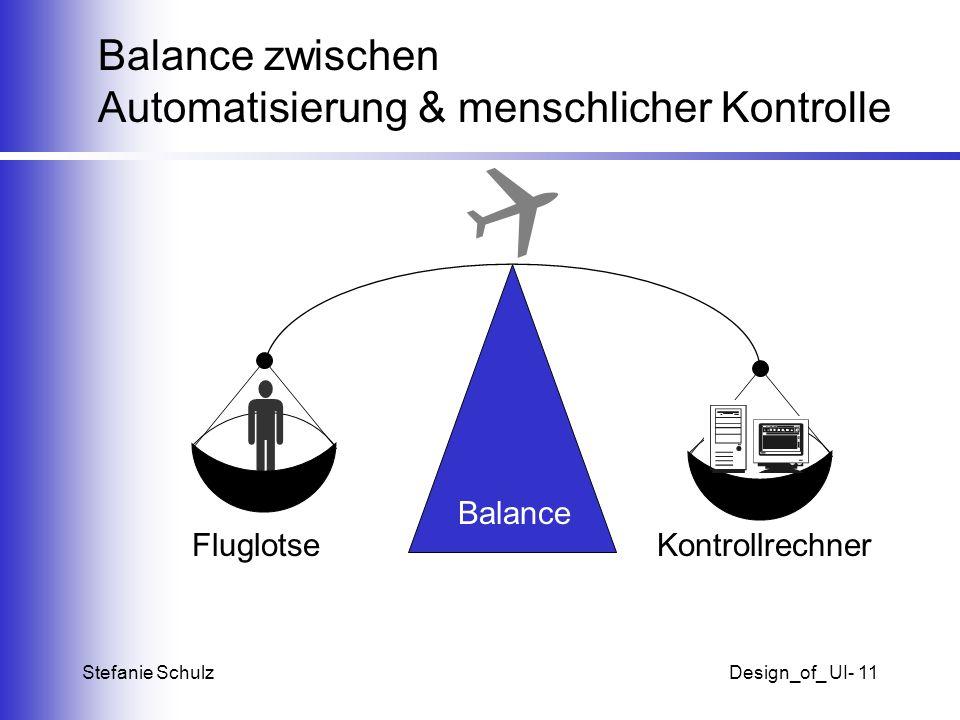 Balance zwischen Automatisierung & menschlicher Kontrolle