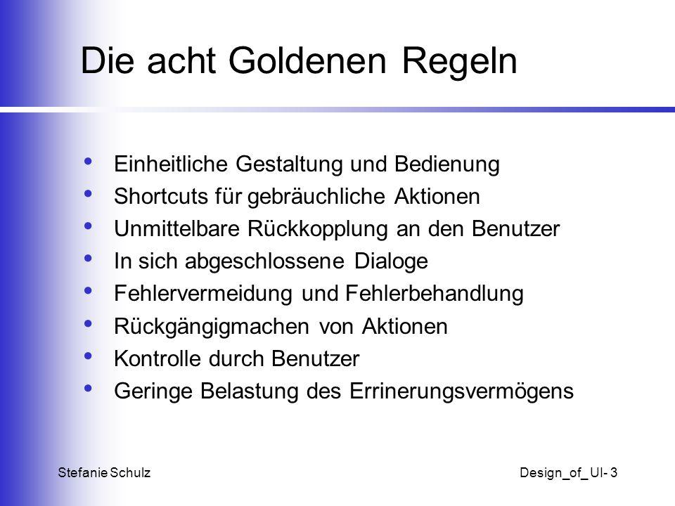 Die acht Goldenen Regeln