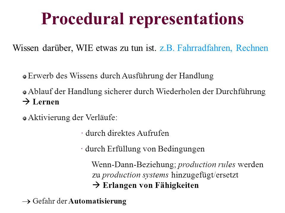 Procedural representations