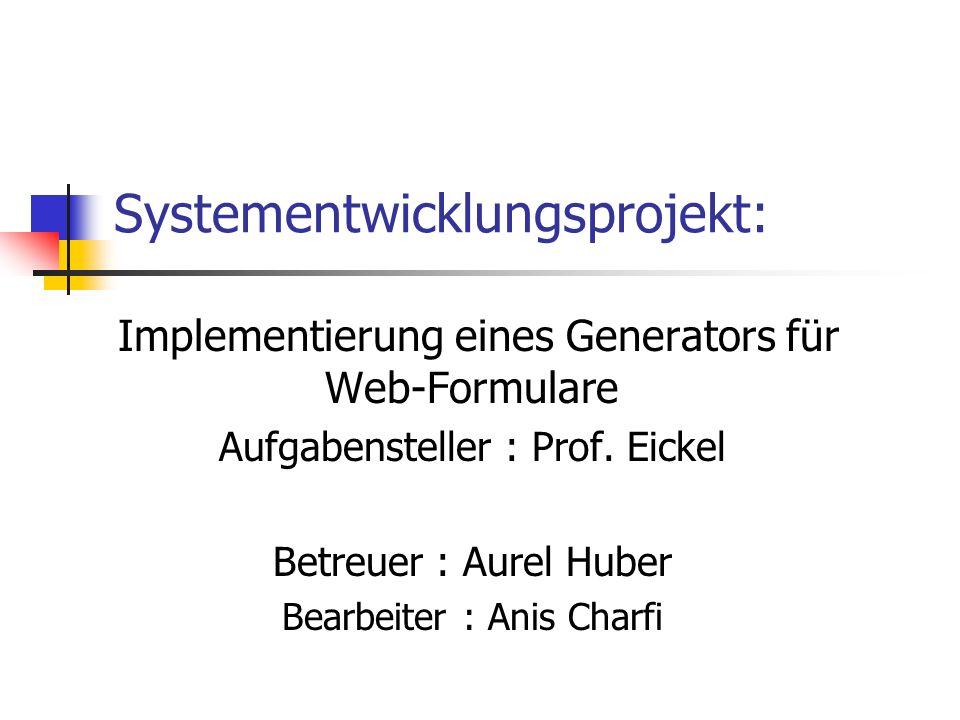 Systementwicklungsprojekt: