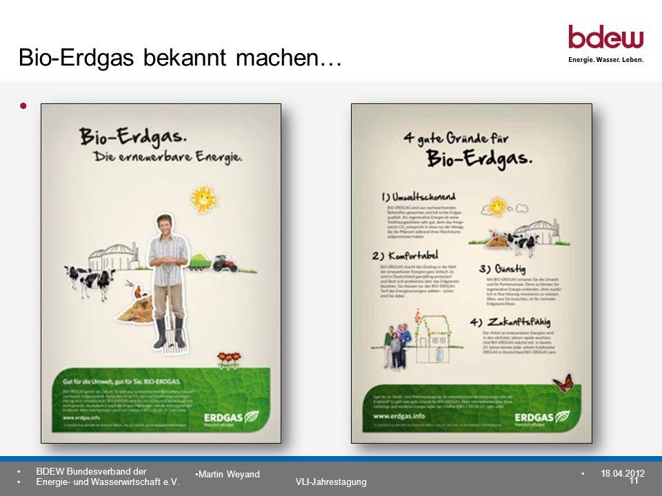 Bio-Erdgas bekannt machen…