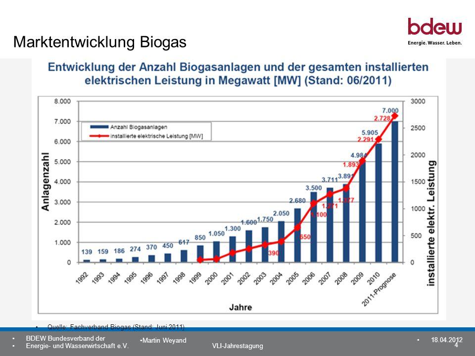 Marktentwicklung Biogas