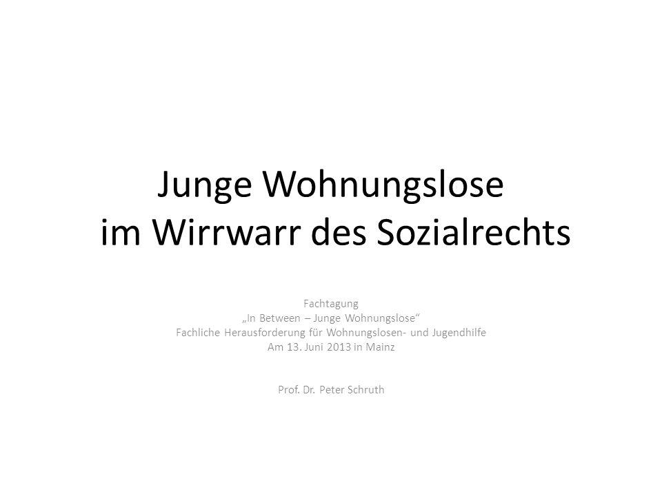 Junge Wohnungslose im Wirrwarr des Sozialrechts - ppt video online ...