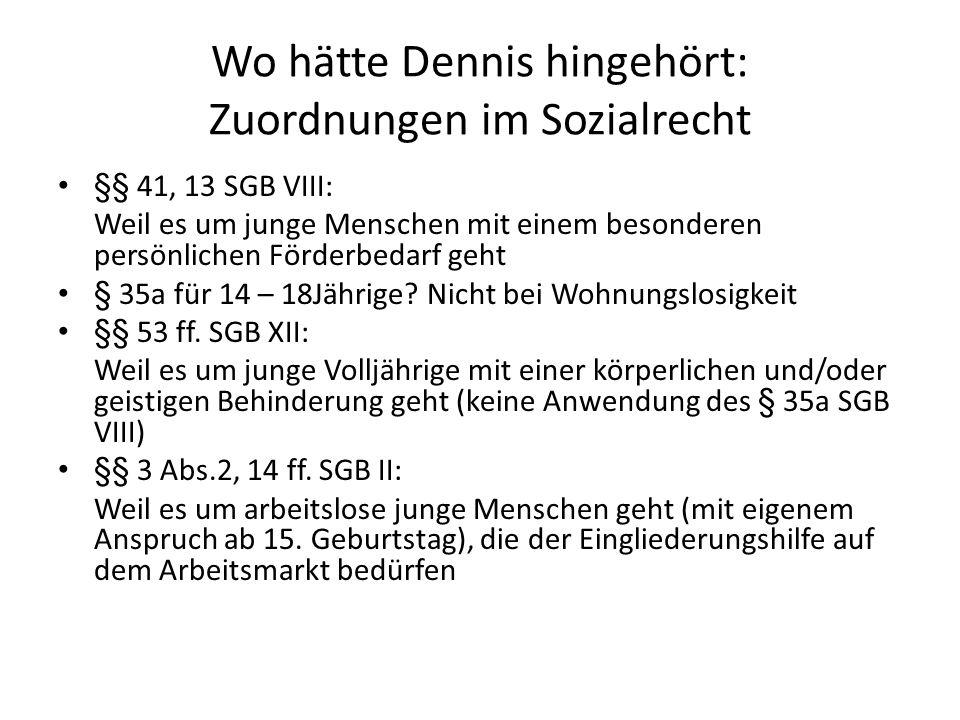 Wo hätte Dennis hingehört: Zuordnungen im Sozialrecht