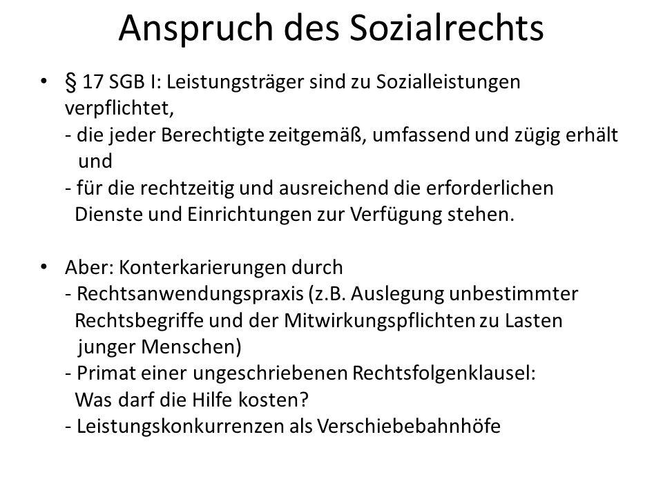 Anspruch des Sozialrechts