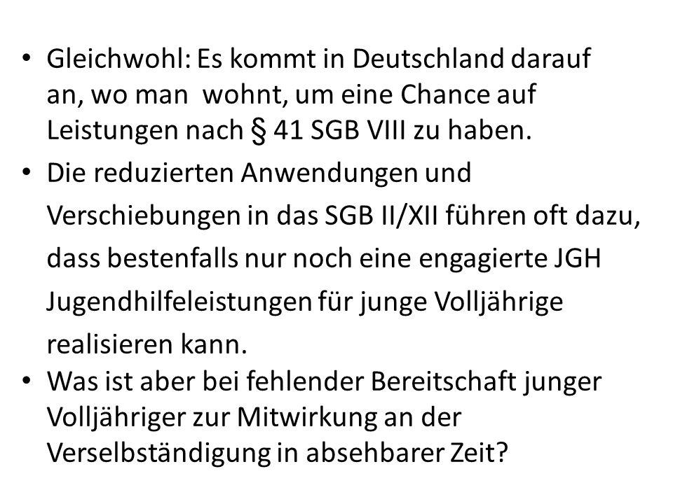 Gleichwohl: Es kommt in Deutschland darauf