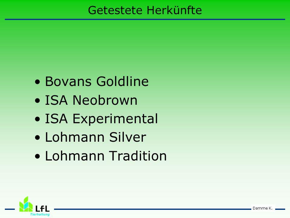 Bovans Goldline ISA Neobrown ISA Experimental Lohmann Silver