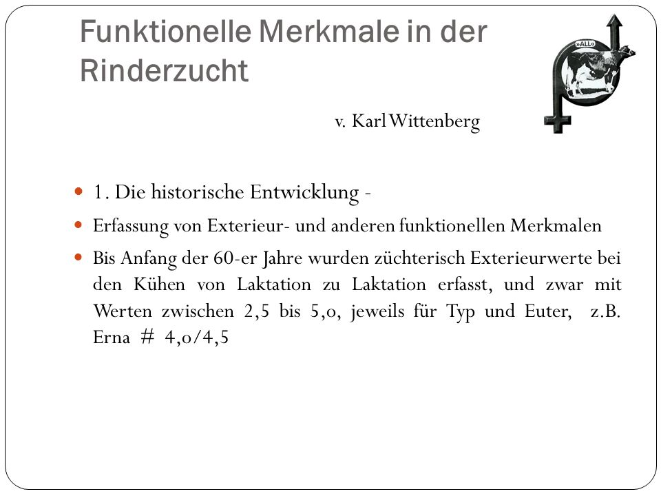 Funktionelle Merkmale in der Rinderzucht