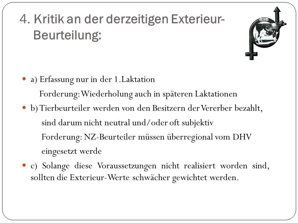 4. Kritik an der derzeitigen Exterieur- Beurteilung: