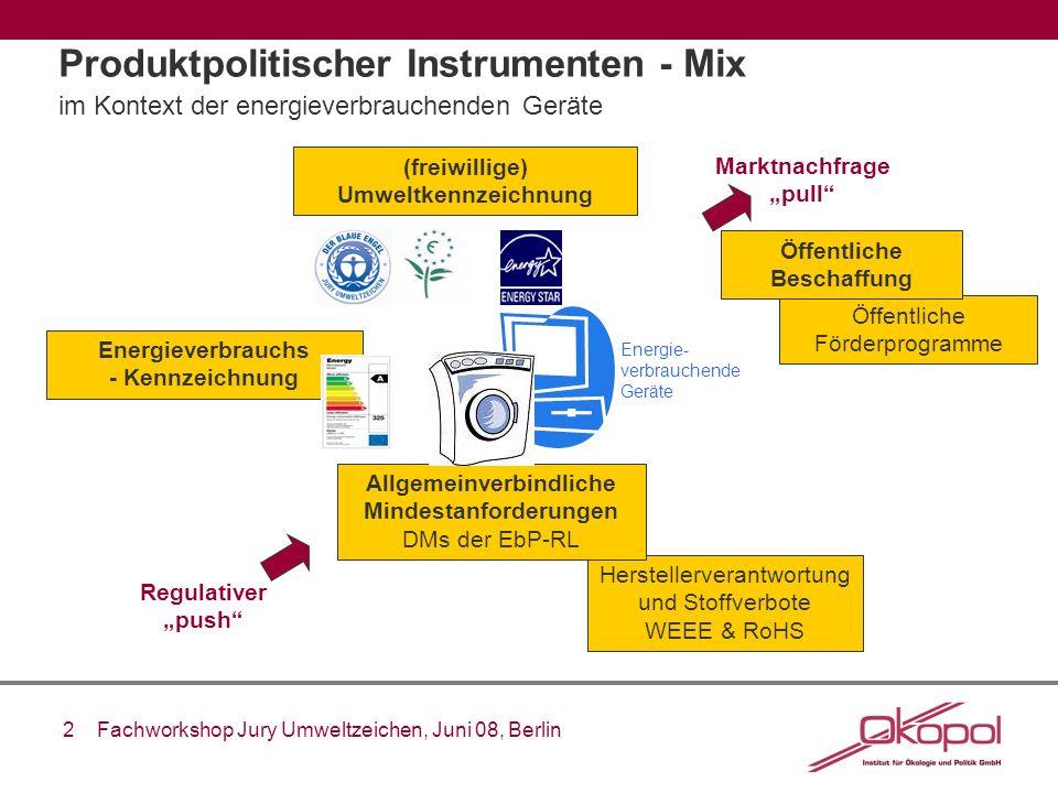 Produktpolitischer Instrumenten - Mix im Kontext der energieverbrauchenden Geräte