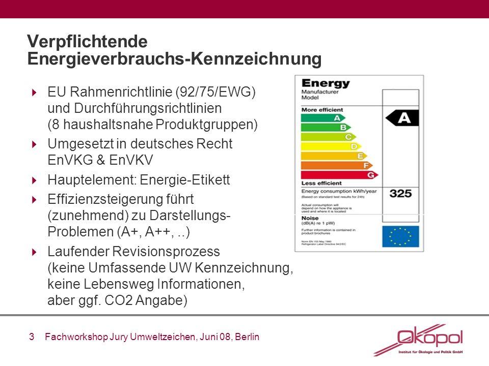 Verpflichtende Energieverbrauchs-Kennzeichnung