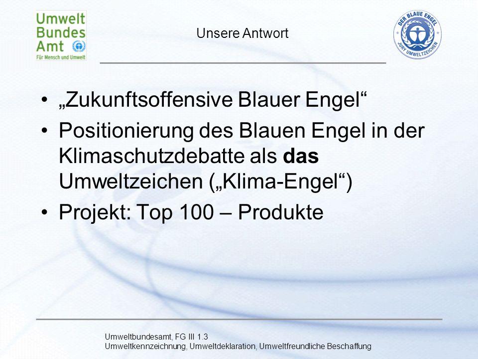 """""""Zukunftsoffensive Blauer Engel"""