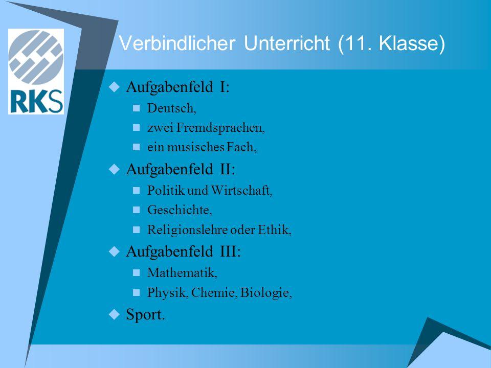 Verbindlicher Unterricht (11. Klasse)