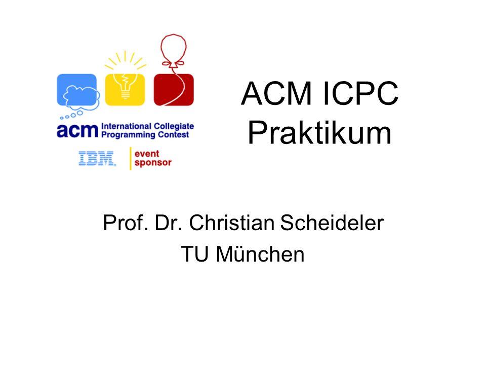 Prof. Dr. Christian Scheideler TU München