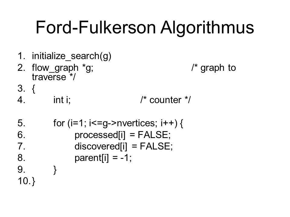 Ford-Fulkerson Algorithmus